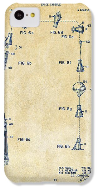 1963 Space Capsule Patent Vintage IPhone 5c Case