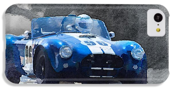 Cobra iPhone 5c Case - 1964 Ac Cobra Shelby Racing Watercolor by Naxart Studio