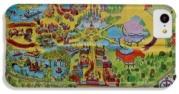 Mouse iPhone 5c Case - 1971 Original Map Of The Magic Kingdom by Rob Hans