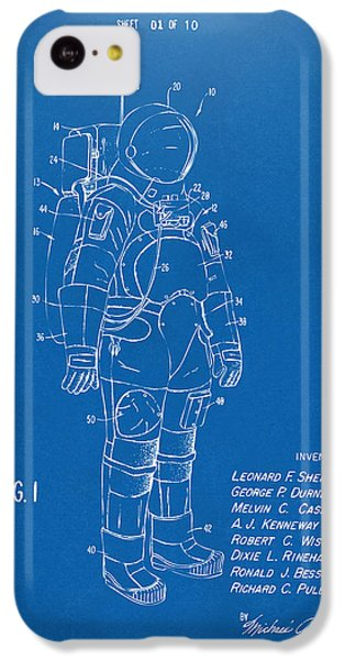 1973 Space Suit Patent Inventors Artwork - Blueprint IPhone 5c Case
