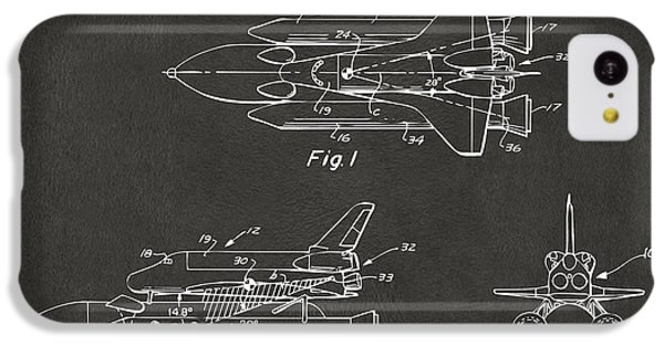 1975 Space Shuttle Patent - Gray IPhone 5c Case by Nikki Marie Smith