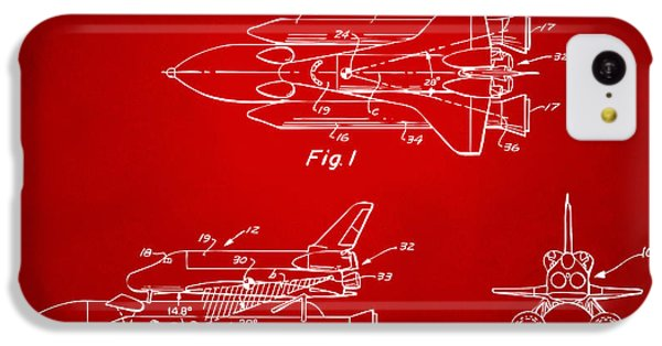 1975 Space Shuttle Patent - Red IPhone 5c Case by Nikki Marie Smith
