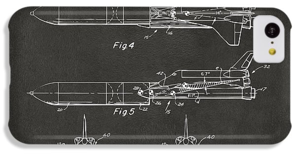 1975 Space Vehicle Patent - Gray IPhone 5c Case by Nikki Marie Smith
