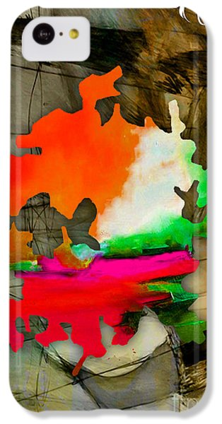 Austin Map Watercolor IPhone 5c Case by Marvin Blaine