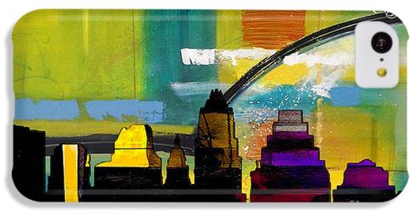 Austin Texas Skyline Watercolor IPhone 5c Case