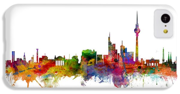 Berlin Germany Skyline IPhone 5c Case by Michael Tompsett