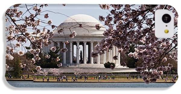 Cherry Blossom Trees In The Tidal Basin IPhone 5c Case by Panoramic Images