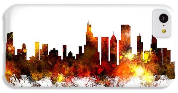 Chicago Skyline iPhone 5c Case - Chicago Illinois Skyline by Michael Tompsett