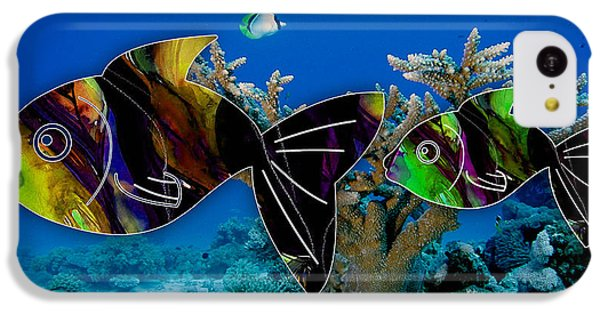 Coral Reef Painting IPhone 5c Case by Marvin Blaine