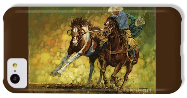 Horse iPhone 5c Case - Rodeo Pickup by Don  Langeneckert