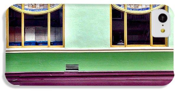 Green iPhone 5c Case - Double Window by Julie Gebhardt