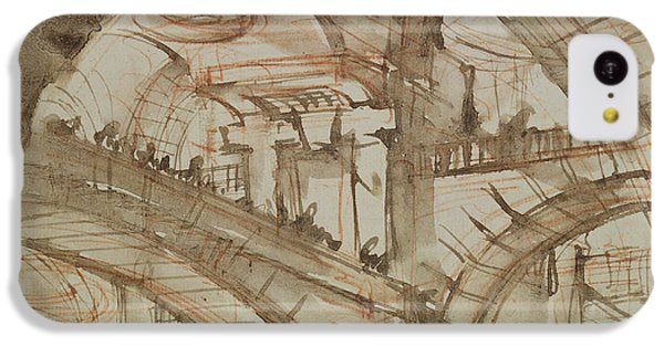 Drawing Of An Imaginary Prison IPhone 5c Case by Giovanni Battista Piranesi
