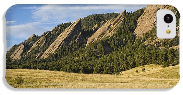Flatirons With Golden Grass Boulder Colorado IPhone 5c Case