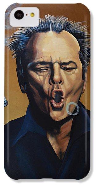 Jack Nicholson Painting IPhone 5c Case by Paul Meijering