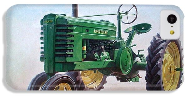 Rural Scenes iPhone 5c Case - John Deere Tractor by Hans Droog