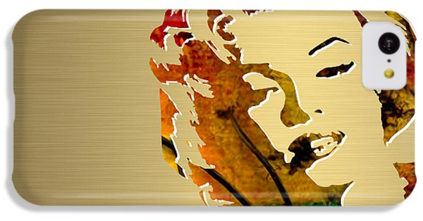 Marilyn Monroe Gold Series IPhone 5c Case by Marvin Blaine