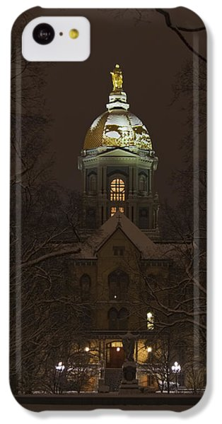 Notre Dame Golden Dome Snow IPhone 5c Case