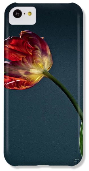 Tulip iPhone 5c Case - Red Tulip by Nailia Schwarz
