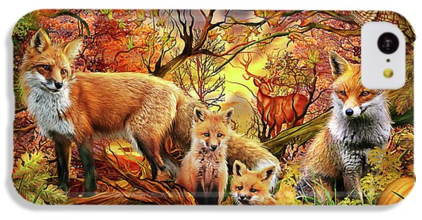 IPhone 5c Case featuring the drawing Spirit Of Autumn by Ciro Marchetti