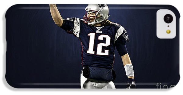 Tom Brady IPhone 5c Case by Marvin Blaine