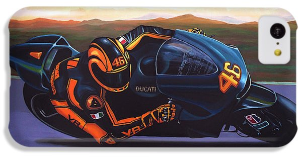 Doctor iPhone 5c Case - Valentino Rossi On Ducati by Paul Meijering