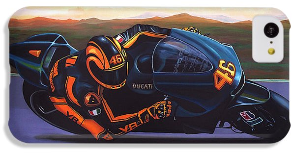 Motorcycle iPhone 5c Case - Valentino Rossi On Ducati by Paul Meijering