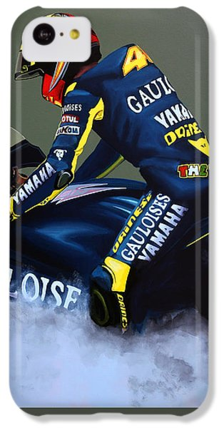 Motorcycle iPhone 5c Case - Valentino Rossi by Paul Meijering