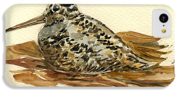 Woodcock IPhone 5c Case by Juan  Bosco