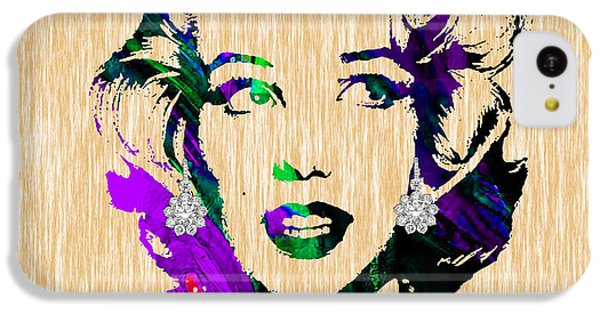 Marilyn Monroe Diamond Earring Collection IPhone 5c Case by Marvin Blaine