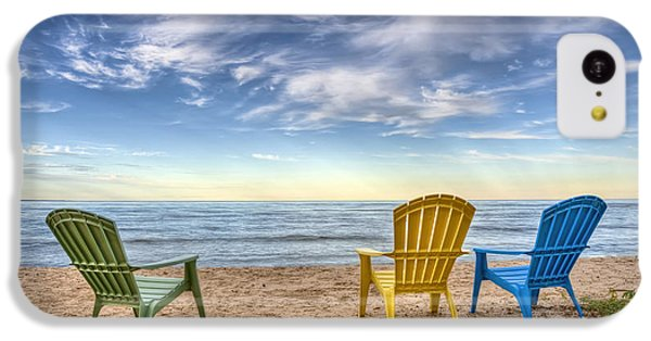 Lake Michigan iPhone 5c Case - 3 Chairs by Scott Norris