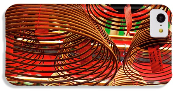 China, Hong Kong, Spiral Incense Sticks IPhone 5c Case by Terry Eggers