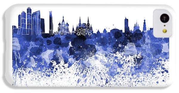 Moscow Skyline White Background IPhone 5c Case by Pablo Romero