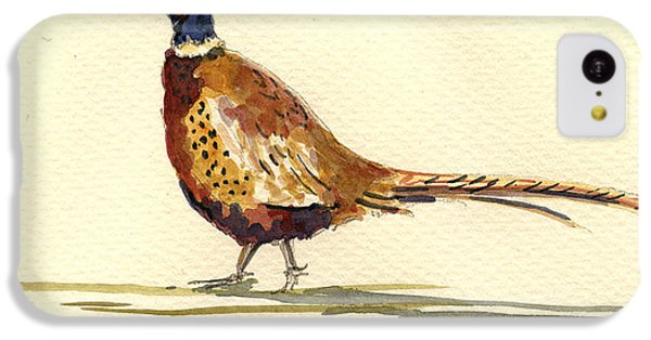 Pheasant iPhone 5c Case - Pheasant by Juan  Bosco