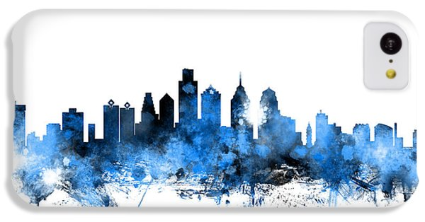 Philadelphia Pennsylvania Skyline IPhone 5c Case by Michael Tompsett