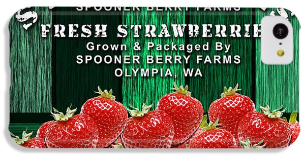 Strawberry Farm IPhone 5c Case by Marvin Blaine