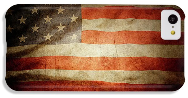 Landmarks iPhone 5c Case - American Flag  by Les Cunliffe
