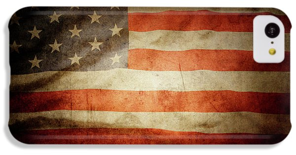 Landmarks iPhone 5c Case - American Flag 48 by Les Cunliffe