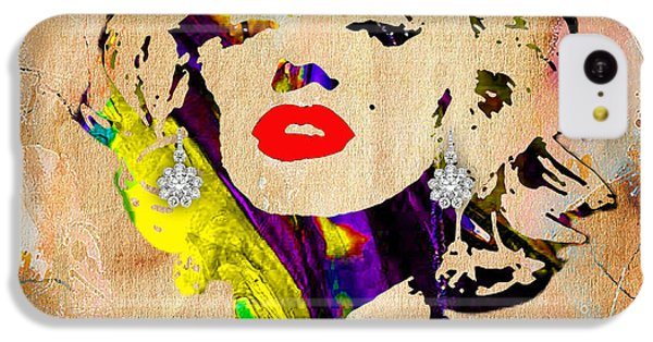 Portraits iPhone 5c Case - Marilyn Monroe Diamond Earring Collection by Marvin Blaine