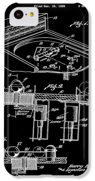 Pinball Machine Patent 1939 - Black IPhone 5c Case by Stephen Younts