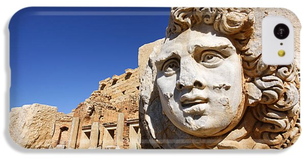 Sculpted Medusa Head At The Forum Of Severus At Leptis Magna In Libya IPhone 5c Case by Robert Preston