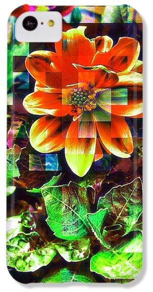Edit iPhone 5c Case - Abstract Flowers by Chris Drake