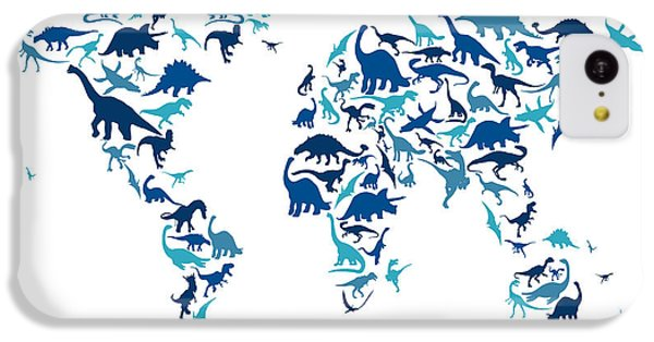 Dinosaur Map Of The World Map IPhone 5c Case