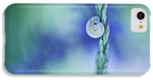 Smallmouth Bass iPhone 5c Case - Snail On Grass by Nailia Schwarz