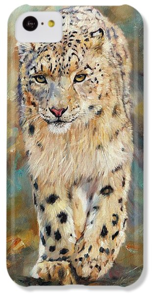 Snow Leopard IPhone 5c Case by David Stribbling