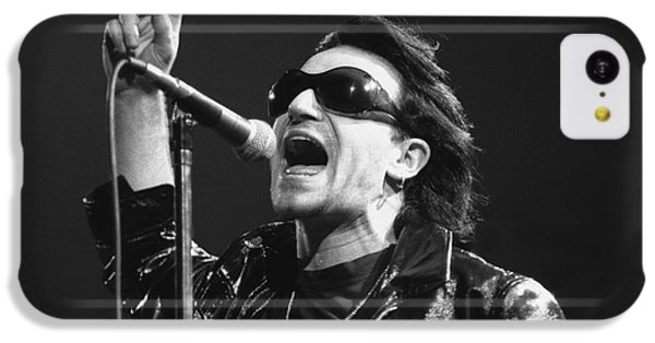 Bono iPhone 5c Case - U2 - Bono by Concert Photos