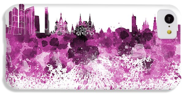 Moscow Skyline White Background IPhone 5c Case