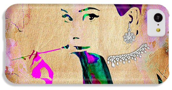 Audrey Hepburn Diamond Collection IPhone 5c Case by Marvin Blaine