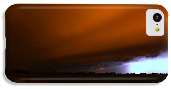 Nebraskasc iPhone 5c Case - Late Night Nebraska Shelf Cloud by NebraskaSC