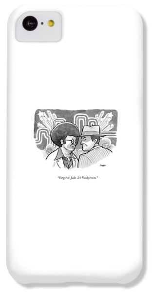 Jack Nicholson iPhone 5c Case - A 70's Disco Man Speaks To Jack Nicholson's by Benjamin Schwartz
