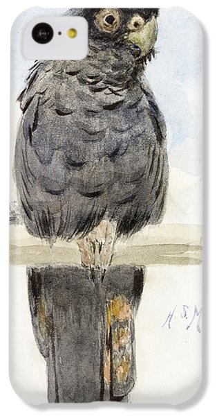 Cockatoo iPhone 5c Case - A Black Cockatoo by Henry Stacey Marks